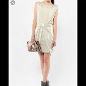 Alice+Olivia cream cocktail dress